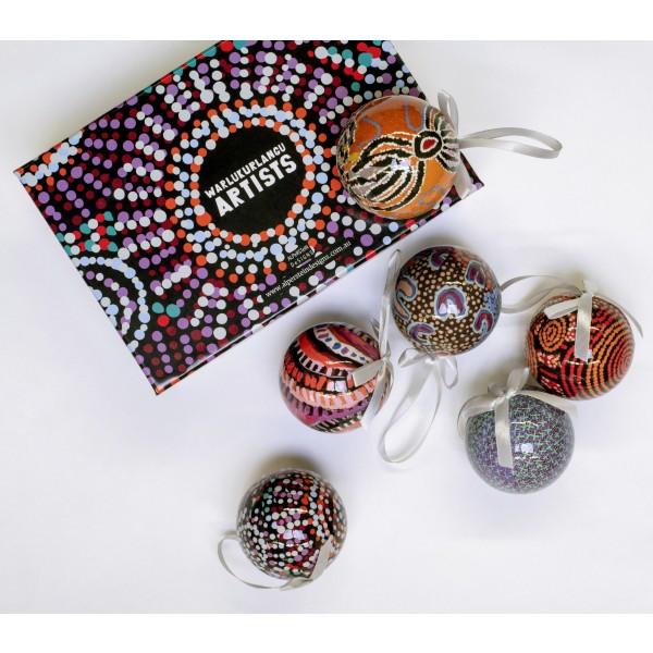 Warlukurlangu Artists Christmas Baubles